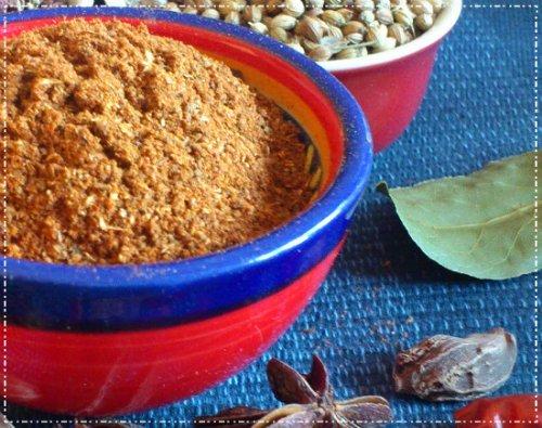 Homemade baharat spice mix.