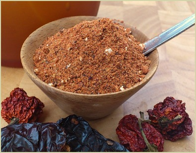 Picture of homemade chipotle chili powder