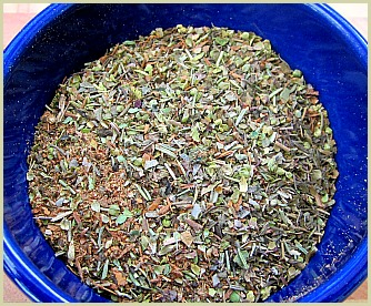 Picture of a homemade Greek seasoning