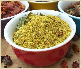 Picture of homemade rasam powder